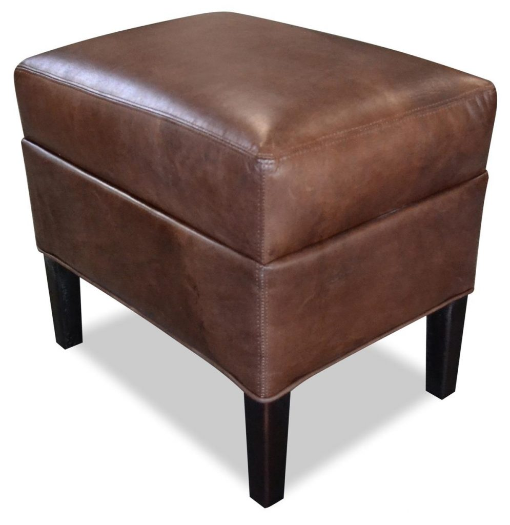 "Hocker ""Hemmingway"" braun, Art.-Nr.: 1000-00, Maße ca. in cm: 54 B x 40 T x 51 H"