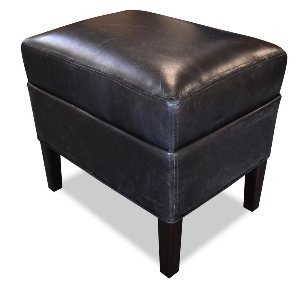 "Hocker ""Hemmingway"" schwarz, Art.-Nr.: 1100-00, Maße ca. in cm: 54 B x 40 T x 51 H"
